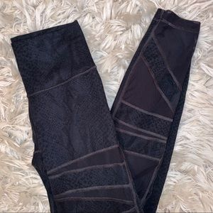 Lululemon black leggings with mesh cut outs